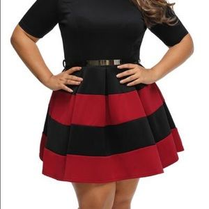 Dresses & Skirts - Chic and Classy Black and White Circle Skirt (16)